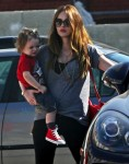 Megan Fox out with her son Noah