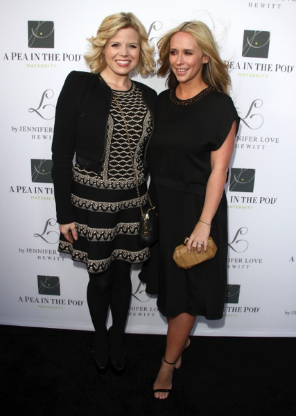 Megan Hilty and Jennifer Love Hewitt at the launch of Jennifer's Maternity collection in LA