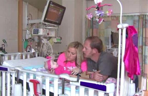 Megan and Stephen VandeWerken with their baby Kaysen