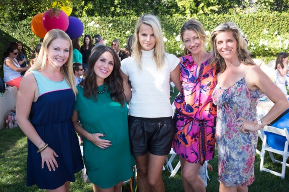 Melissa Joan Hart, Soleil Moon Frye, Kelly Sawyer, Rebecca Gayheart and Jane Buckingham at Soleil's Book release party