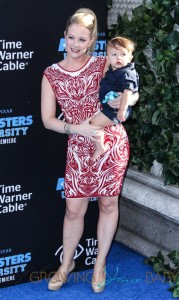 Melissa Joan Hart and Tucker McFadden Wilkerson at the world premiere of 'Monsters University' held at the El Capitan Theatre in Hollywood