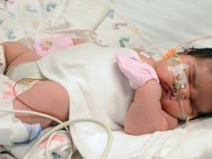 Mia Yasmin Hernandez was born weighing 13 pounds 13 ounces