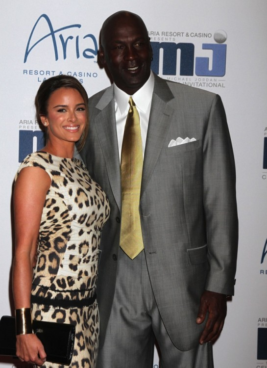 Michael Jordan and  Yvette Preito