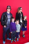 Michael Wahlberg and Rhea Durham with kids Ella, Michael and Brendan at the premiere of the LEGO Movie