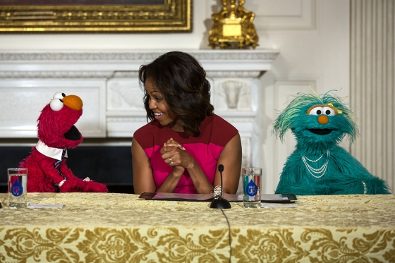 Michelle obama promotes fresh food choices