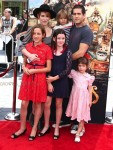 Molly Ringwald with husband Panio Gianopoulos and kids Mathilda, Roman and Adele at At Boxtrolls Premiere