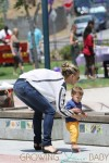 Molly Sims enjoys some park play time with her son Brooks in Los Angeles