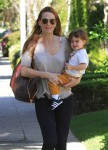 Molly Sims Takes Her Son Brooks To A Baby Class