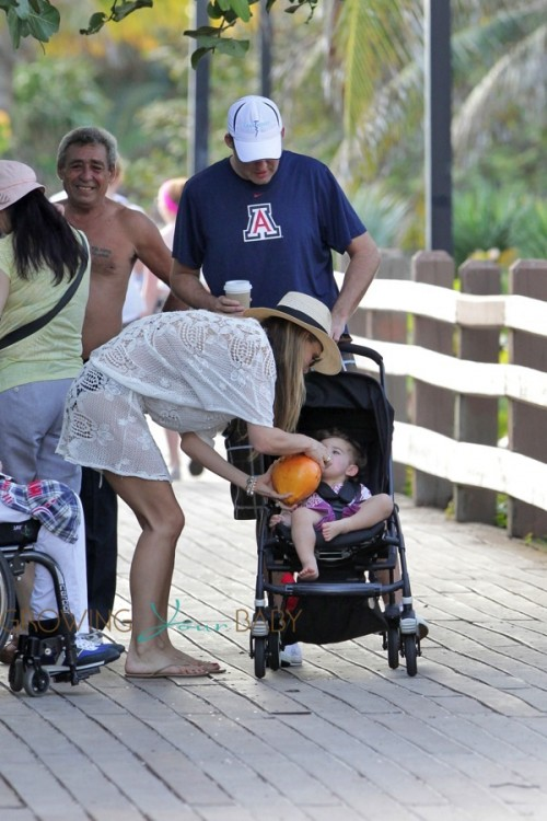 Molly Sims and Scott Stuber out in Miami with son Brooks