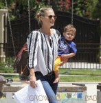 Molly Sims Has Her Hands Full Carrying Her Adorable Son Brooks Alan Stuber