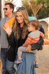 Molly Sims with husband Scott and son Brooks Stuber at Mr