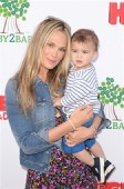 Molly Sims with son Brooks Stuber at the Baby2Baby event in LA