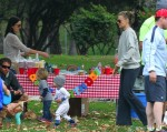 Molly Sims with son Brooks Stuber at the park in LA