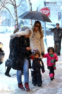 Moroccan and Monroe Cannon in Aspen with their mom Mariah Carey