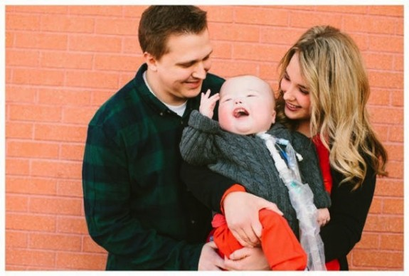 Natalie and Jake Peterson with son Garrett