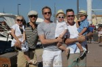 Neil Patrick Harris, David Burtka and David Furnish pose in St. Tropez with their kids Harper, Gideon and Zachary