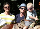 Neil Patrick Harris and partner David Burtka out on Mother's Day with the kids