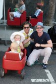 Neil Patrick Harris with his family at the Farmers Market