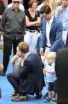 Neil Patrick Harris holds baby Harper as celebrities arrive for 'The Smurfs 2' premiere in LA
