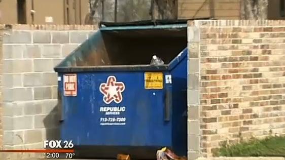Newborn found in dumpster in Houston TX