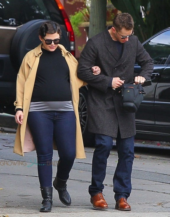 Newlyweds Pregnant Ginnifer Goodwin and Josh Dallas out in LA