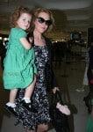 Nicole Kidman with daughter Faith Urban at Sydney airport