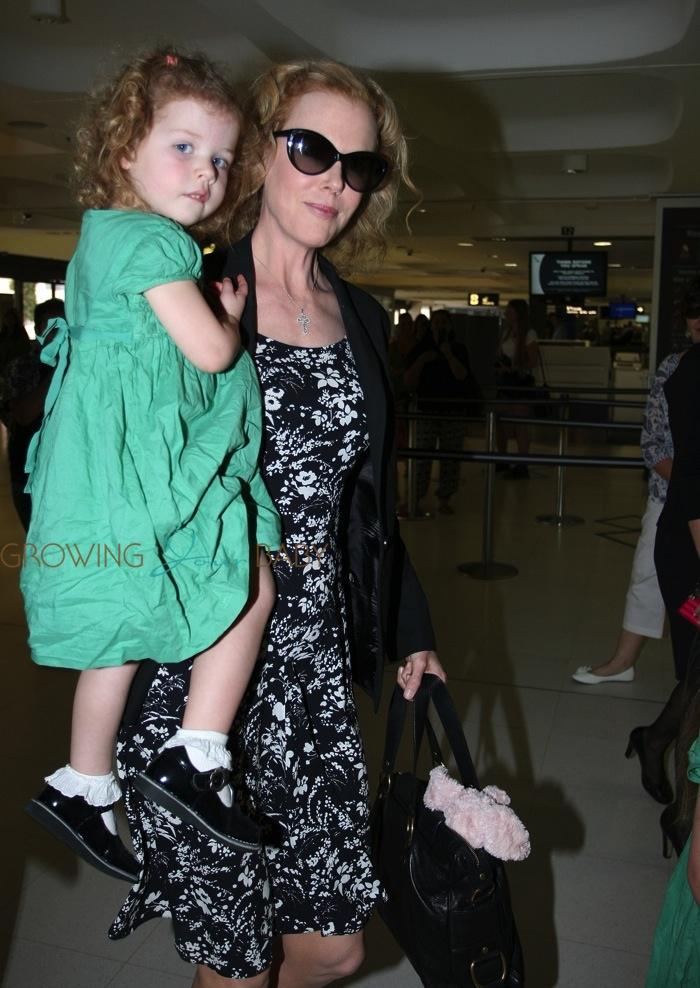Nicole Kidman With Daughter Faith Urban At Sydney Airport