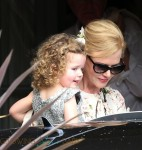 Nicole Kidman with daughter Faith at her parent's 50th anniversary