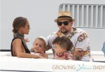 Nicole Richie and Joel Madden with kids Harlow & Sparrow Madden in St