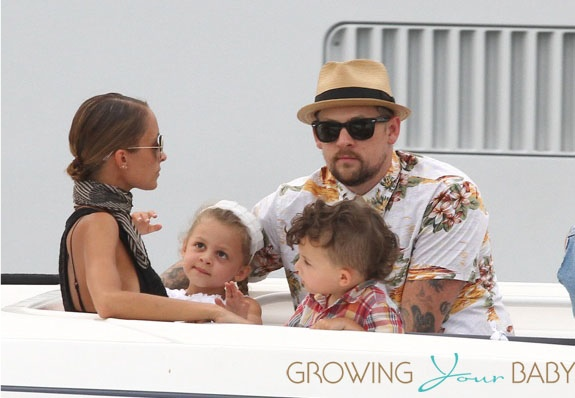 Nicole Richie and Joel Madden with kids Harlow & Sparrow Madden in St. Tropez