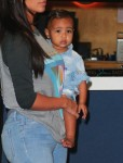 North West at Burbank Airport with her mom Kim Kardashian