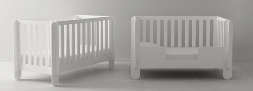 Oeuf NYC Elephant convertible Crib - white