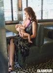 Olivia WIlde breastfeeds son Otis for Glamour Magazine