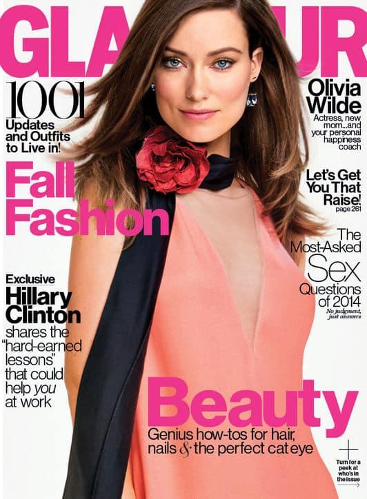 Olivia Wilde September Glamour cover