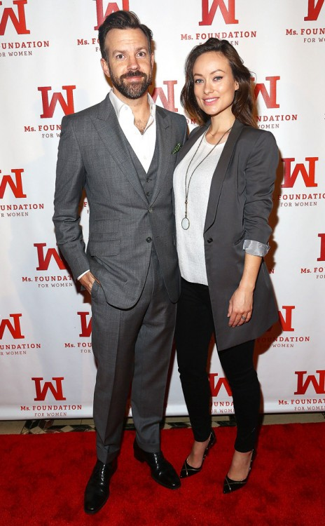 Olivia Wilde and fiance Jason Sudeikis at the 2014 Ms. Foundation Women Of Vision Gala