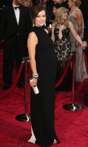 Olivia Wilde on the red carpet at the 86th Academy Awards