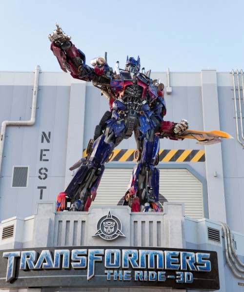 Optimus Prime transformers ride at Universal Orlando Resort