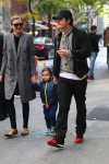 Orlando Bloom & Miranda Kerr out in NYC with son Flynn
