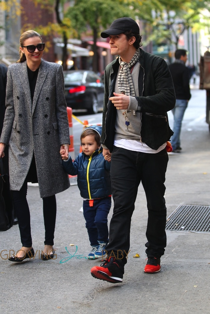 Orlando Bloom Miranda Kerr Out In Nyc With Son Flynn Growing