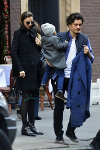 Orlando Bloom and Miranda Kerr out in NYC with their son Flynn