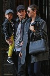 Orlando Bloom and Miranda Kerr take their son Flynn for a walk together