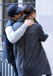 Orlando Bloom and Miranda kiss share a kiss in NYC