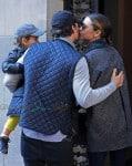 Orlando Bloom and Miranda kiss share a kiss in NYC
