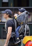 Orlando Bloom Carries Flynn On His Back