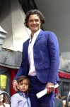 Orlando Bloom with his son Flynn at Hollywood Walk of Fame Star ceremony
