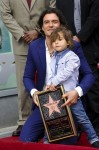 Orlando Bloom with his son Flynn at Hollywood Walk of Fame Star ceremony in LA