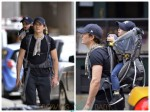 Orlando Bloom with son Flynn out in NYC 09-17-13