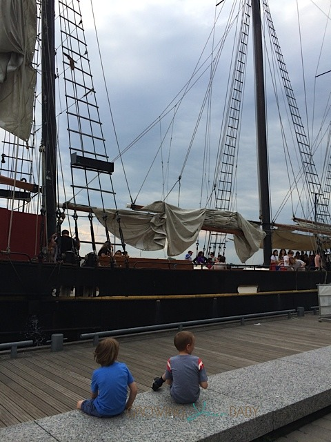 Our Summer Journey sailing on a tall ship