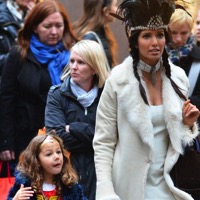 Padma Lakshmi Takes To The Streets With Her Little Super Hero!