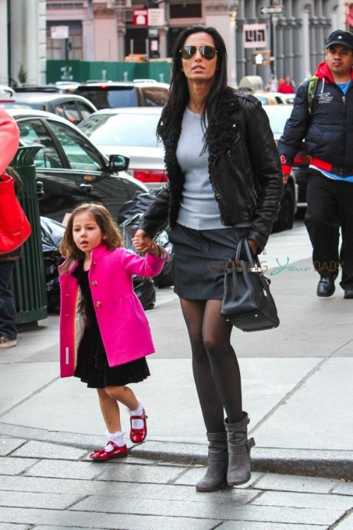 Padma Lakshmi out shopping in SoHo with daughter Krishna Dell